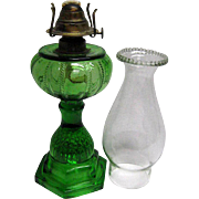 Emerald Green Victorian Oil Lamp