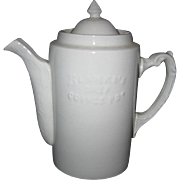 Advertising Coffee Pot - Blanke's Coffee - St. Louis