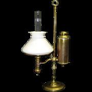 1870s Student Oil Lamp - Manhattan Brass