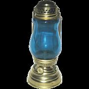 Teal Blue Antique Skater's Lantern