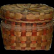 Potato Stamped Basket 19th Century