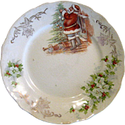 Santa Claus Christmas Plate by Homer Laughlin
