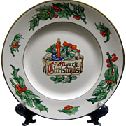 Large 1940s Merry Christmas Plate