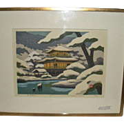 Japanese Woodblock Prints Masao Ido 1982 Pair