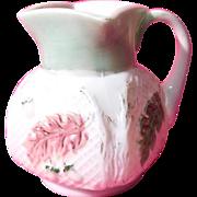 Milk Glass Netted Oak Creamer, 1898