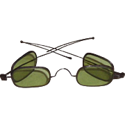 Spectacles Eyeglasses Double Green Lens 1860's