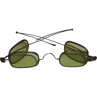 Spectacles Eyeglasses Double Green Lens 1860's