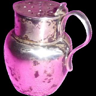 Sterling Miniature Tankard Figural Salt Shaker 1902