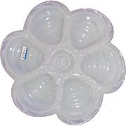 Oyster Plate Portieux Milk Glass