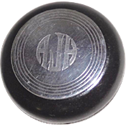 Vintage auto gearshift knob Silver and bakelite