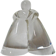 Steuben Two Lovers as One Paperweight Crystal Figurine