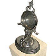 Figural Watch Holder Stand Silver Plated Victorian