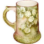 CAC American Belleek Hand Painted Hops Beer Mug pre Lenox