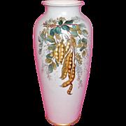 Mettlach V & B Etched Art Pottery Vase