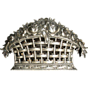 Silver Napkin Holder Flower Basket 800 S.