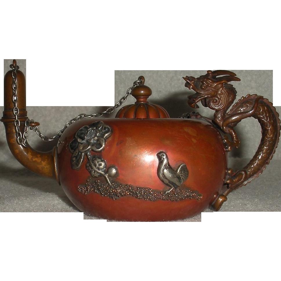 Meiji Bronze Dragon Vase Antique 19th Century Japanese