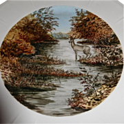 Haviland Hand Painted Game plates Deer and Quail 1890