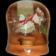 Royal Bayreuth Sunbonnet babies Chamberstick Candle shield
