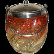 Baccarat Rose Tiente Serpentine Cracker Jar