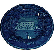 Historical Blue United States Hotel Philadelphia Bowl Deep Blue
