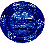 Clews Landing of Lafayette Historical Blue plate 6.75 inch