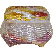 Art Glass Dresser Box Multi color, 19th c.  Baccarat?