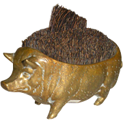 Bronze Pig Pen Wipe 19th Century Desk Accessory