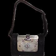 Italian 800 silver Jewelled Minaudière Compact Purse