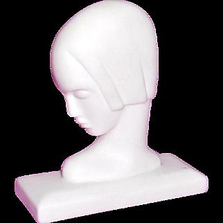 Lenox Porcelain Art Deco Figure of Lady's head Modernist