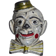 Vintage Pencil Sharpener Metal Clown