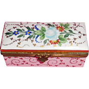 Porcelain Stamp Box Hand Painted