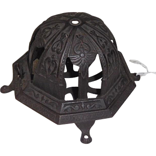 Antique Cast Iron String Holder Ornate design