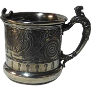 Quad Plate Shaving Mug with griffins 19th c.