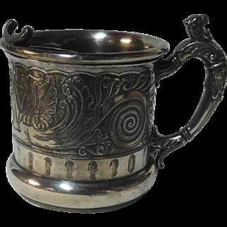 Quad Plate Shaving Mug with griffins 19th c.