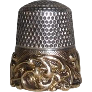 14K Gold and Sterling Thimble Ketcham & McDougall