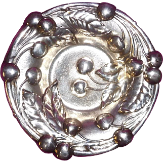 Sterling Silver Bowl Repousse Cherries by Mauser