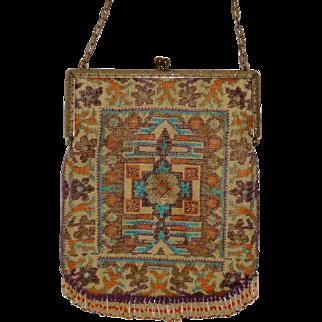 Beaded Purse Rug design 19th century