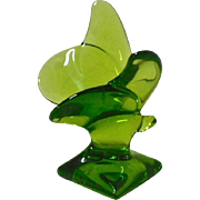 Baccarat Glass Green Butterfly figure
