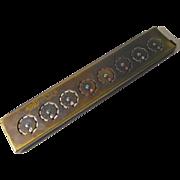 Vintage Calculator Addometer Brass Mechanical