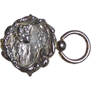 Unger Brothers Sterling Key Fob Art Nouveau Woman