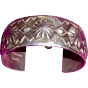 Navaho Cuff Bracelet Sterling by Nora Bill