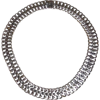 VIntage Mexican Sterling Flexible necklace