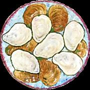 Antique Oyster Plate E.B. Napoli Majolica