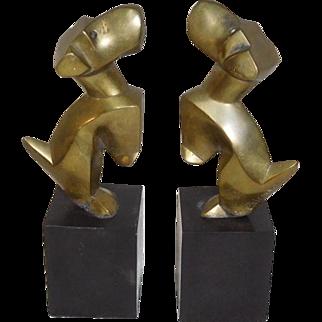 Terriers Bronze Dog sculptures Bookends Nikolsky