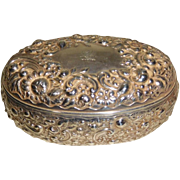 Sterling Silver Repousse Dresser Box Gorham