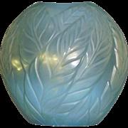 Lalique Filicaria vase Aqua Opalescent 1990