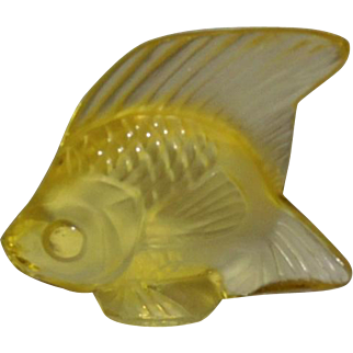 Lalique Yellow Poisson Fish Modern