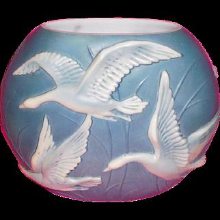 Phoenix Art Glass Wild Geese large vase