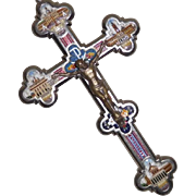 Mosaic Cross with 4 Roman Buildings Micro