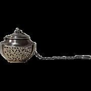 Sterling Tea Ball Tea Strainer Urn Shape